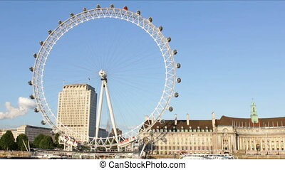 London Eye Time Lapse - London Eye time lapse on a sunny...