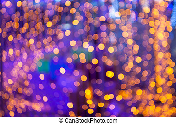 Defocused light  bokeh abstract background.