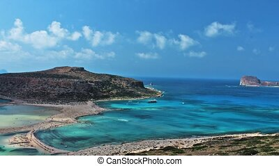 Beautiful Balos Lagoon and Gramvousa island on Crete,...