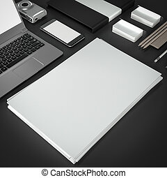Mockup business template High resolution 3D render