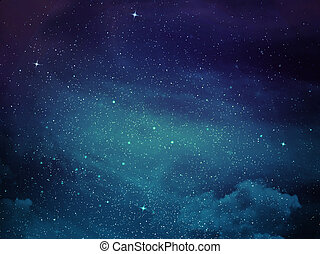 View of space with cluster of stars