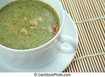 Broad Bean And Bacon Soup - classic recipe from Britain