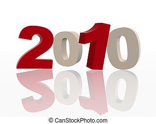 3d 2010 in red and grey