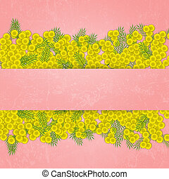 Mimosa flower for womens Day - illustration of Mimosa flower...