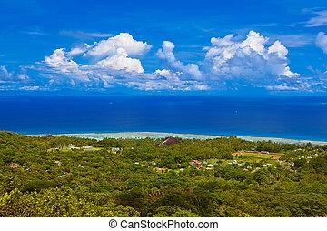 Island La Digue at Seychelles