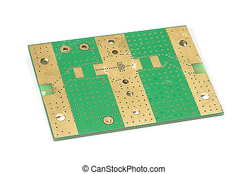 Bottom layer of PCB printed circuit - Electronics PCB...