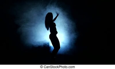 Dancing girl silhouette