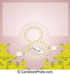 Mimosa flower background - illustration of Mimosa flower...