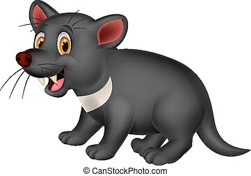 Cartoon Tasmanian devil - Vector illustration of Cartoon...