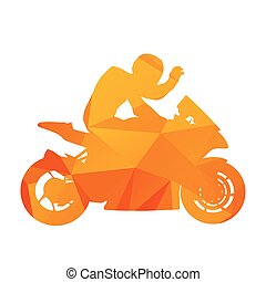 Abstract motorcycle silhoutte Triangles design