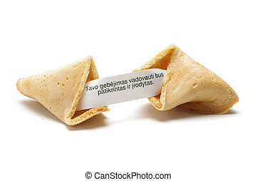 Fortune cookie with phrase in lithu - Chinese fortune...