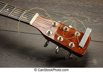 Front view of acoustic six string g - Musical instrument six...