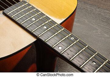 Acoustic guitar heel or neckjoint c
