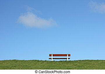 Bench on a dike