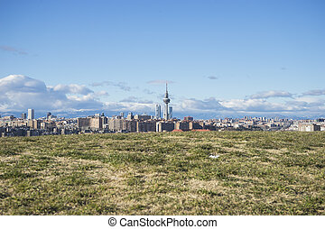 Spain, Madrid skyline, views from Tio Pio Park