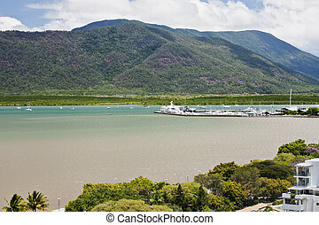 Cairns View 1805 - view of tropical city of Cairns Australia