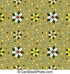 Seamless floral decorative ornament (vector)
