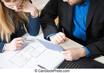 Two architects - Two young architects thinking about new...