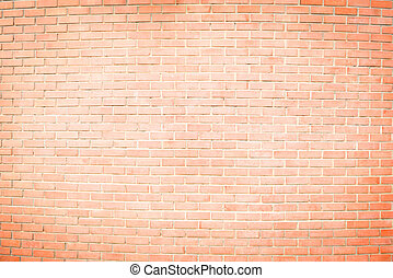 brown brick wall has painted white in the middle for texture bac