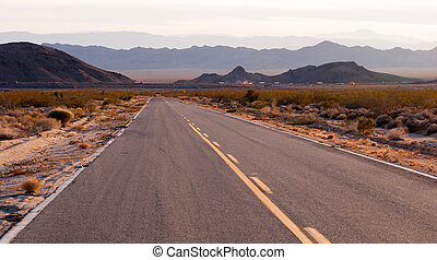 Kelbaker Road Approaches Needles Freeway US 40 California...