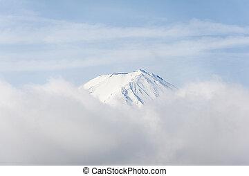 Top of fuji in japan