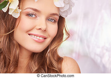 Spring positivity - Charming girl expressing happiness