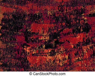 Lava Flow - Abstract red orange acrylic