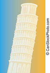 leaning tower of Pisa - a beautiful drawing of leaning tower...