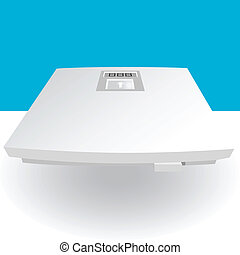 Scale image isolated on a white background.