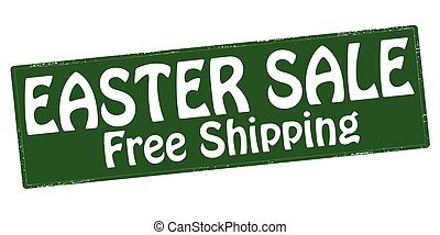 Easter sale - Stamp with text Easter sale inside, vector...