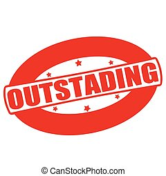 Outstanding - Stamp with word outstanding inside, vector...