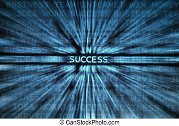 Success! - Success word shown in a business words mix...