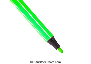 Marker pens isolated on white background