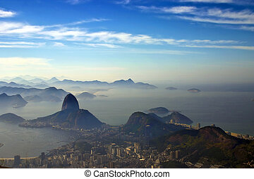 Sugarloaf mountain - Photo taken a the feet of the Christ...