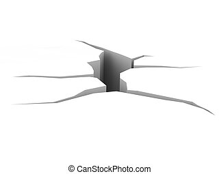 Crack. High resolution 3D render