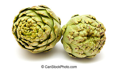 artichoke isolated - globe artichoke isolated on white...