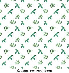 Photo pattern with green leaves - Seamless spring summer...