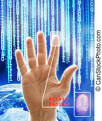 Access denied - Image concept of security and technology....