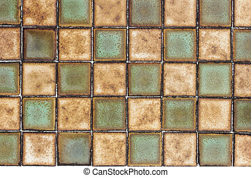 Old wall ceramic tile pattern background.