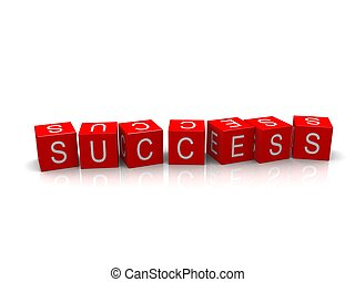 success cubes - 3d rendered illustration of the word success...