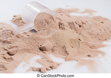 Protein powder and scoop