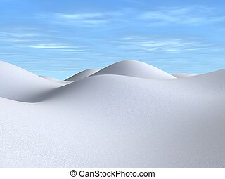 snowy landscape - 3d rendered illustration of a white winter...