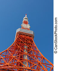 Tokyo Tower 332.6-meter, communication tower is located in...