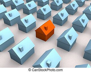 little houses - 3d rendered illustration of simple houses...