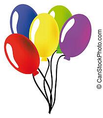 balloon - nice illustration of a ballon isolated on white