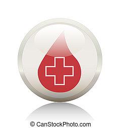 Button-Medicine - button, icon, health, medicine, symbol,...