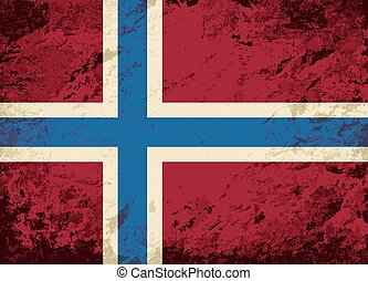 Norwegian flag Grunge background. Vector illustration Eps 8.