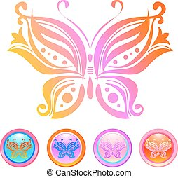 Vector design of butterfly - Vector design of colorfull...