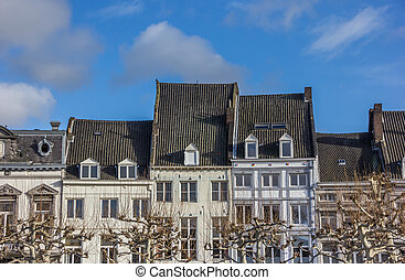 Old houses at the Vrijthof in Maastricht, Netherlands
