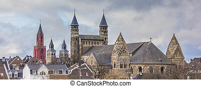 Panorama of Church towers in Maastricht